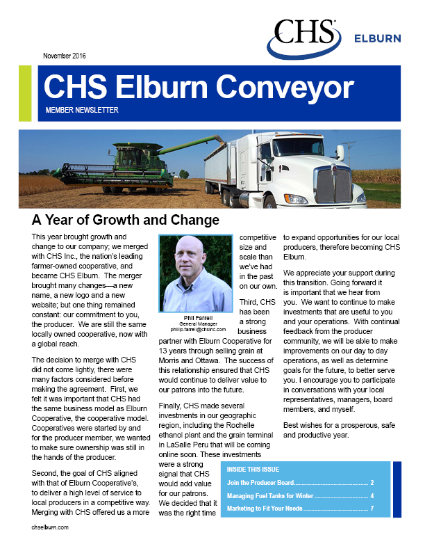 CHS Elburn Conveyor | Winter 2016