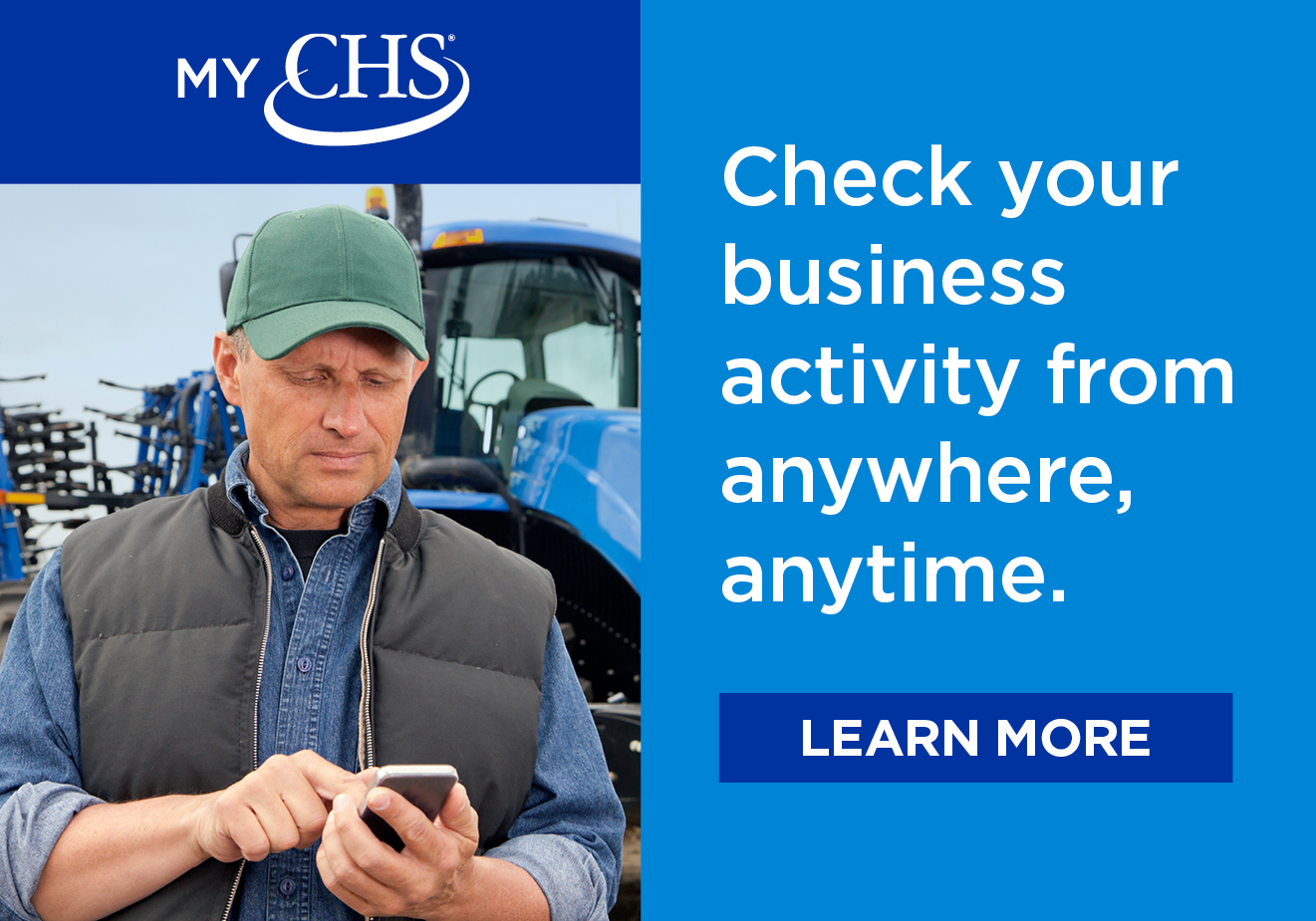 Check your business activity anywhere with the MyCHS App